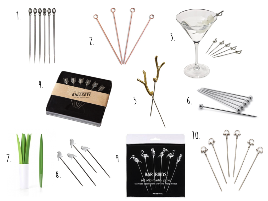 da7d76d51b3 I decided to go on the hunt for some stylish cocktail picks to elevate your  garnish. Here are my picks for great picks!